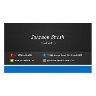 Artista do artesanato - customizável profissional cartão de visita