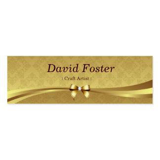 Artista do artesanato - damasco brilhante do ouro cartoes de visita