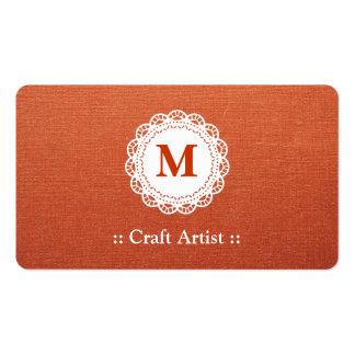 Artista do artesanato - monograma elegante do laço modelos cartao de visita