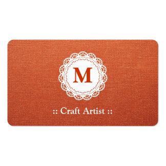 Artista do artesanato - monograma elegante do laço cartão de visita