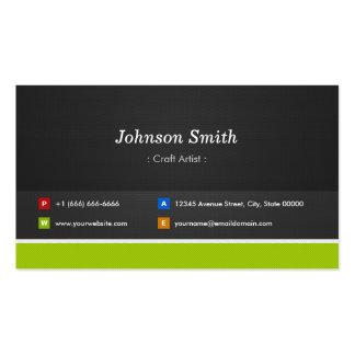Artista do artesanato - profissional e prêmio cartão de visita