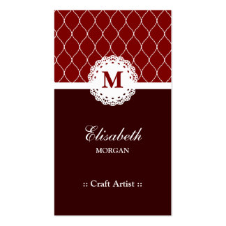 Artista do artesanato - teste padrão elegante do cartão de visita