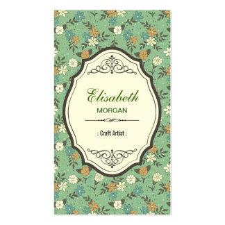 Artista do artesanato - vintage elegante floral cartão de visita