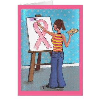 Artista do cancro da mama - cartão da consciência