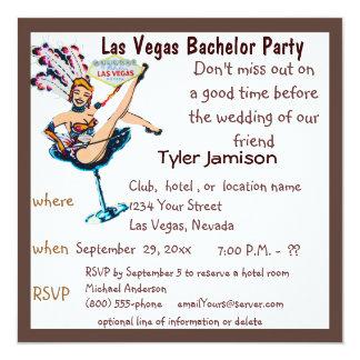 Artista do despedida de solteiro de Las Vegas Convite Quadrado 13.35 X 13.35cm