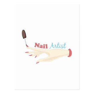 Artista do prego cartoes postais