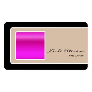 Artista do prego - prego cor-de-rosa cartão de visita
