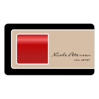 Artista do prego - prego vermelho cartão de visita
