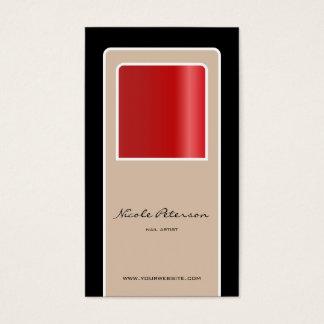 Artista do prego - prego vermelho cartão de visitas