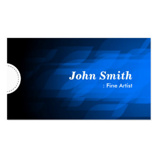 Artista fino - azul escuro moderno cartões de visitas