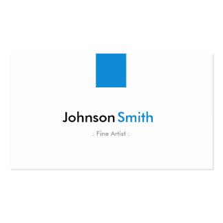 Artista fino - azul simples do Aqua Cartão De Visita