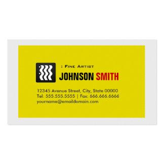 Artista fino - branco amarelo urbano cartão de visita