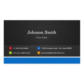 Artista fino - customizável profissional cartão de visita