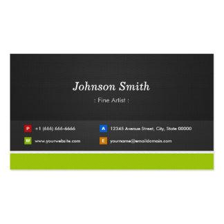 Artista fino - profissional e prêmio cartão de visita