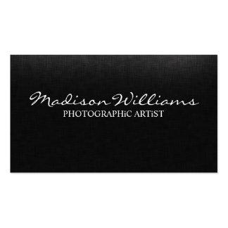 Artista fotográfico elegante original profissional cartão de visita