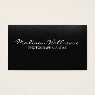Artista fotográfico elegante original profissional cartão de visitas