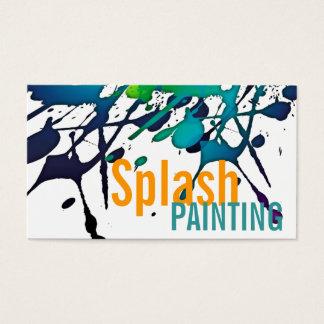 Artista gráfico dos pintores profissionais da cartão de visitas