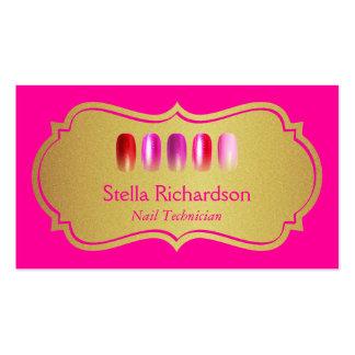 Artista moderno do prego - rosa da beleza e brilho cartão de visita