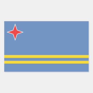 Aruba/bandeira de Aruban, Países Baixos/Dutch Adesivo Retangular