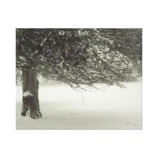 Árvore 2 da neve impressão em tela