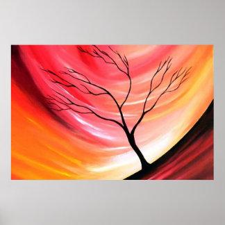 Árvore abstrata - arte moderna criativa poster