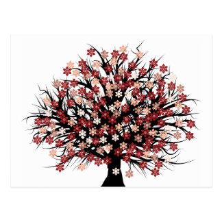 Árvore abstrata Hugger Cartão Postal