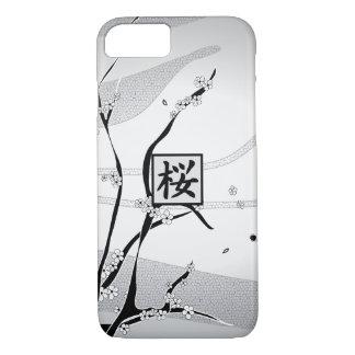 Árvore branca da flor de cerejeira capa iPhone 7