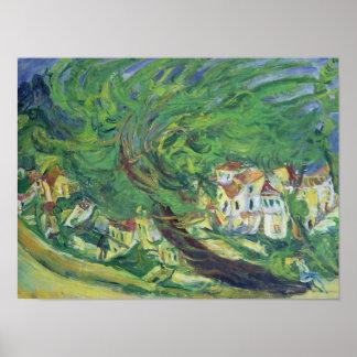 Árvore caída, c.1922-23 pôster