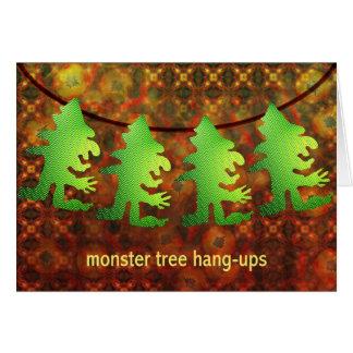 Árvore cair-UPS do monstro por Anjo Lafin Cartão Comemorativo