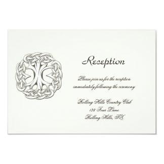 Árvore celta da recepção de casamento da vida convite 8.89 x 12.7cm