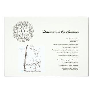 Árvore celta de sentidos do casamento da vida convite