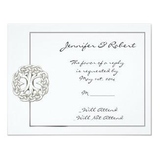 Árvore celta do cartão da resposta da vida convite 10.79 x 13.97cm