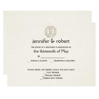 Árvore celta do cartão da resposta do casamento do convite 8.89 x 12.7cm