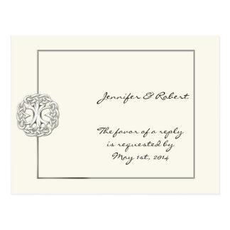Árvore celta do cartão da vida RSVP Cartao Postal