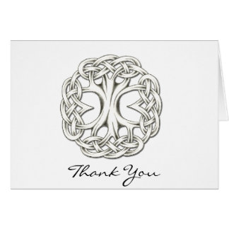 Árvore celta do obrigado da vida você cartão