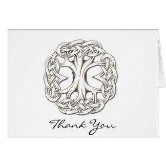 Árvore celta do obrigado da vida você cartão de nota
