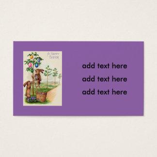Árvore colorida coelhinho da Páscoa do ovo Cartão De Visitas