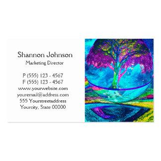 Árvore colorida de trabalhos de arte da vida por cartão de visita