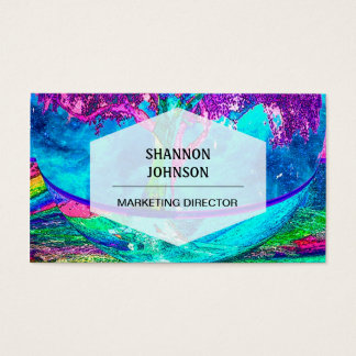 Árvore colorida de trabalhos de arte da vida por cartão de visitas
