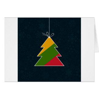 Árvore comemorativo cartão comemorativo
