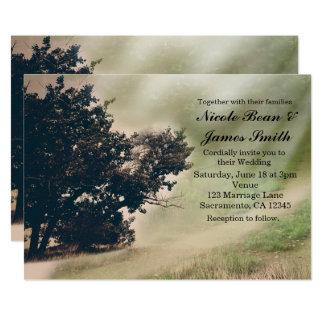 Árvore & convite rústico do casamento da estrada