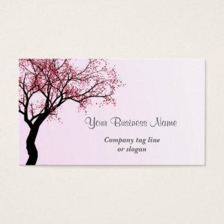 Árvore cor-de-rosa da flor da flor cartão de visitas