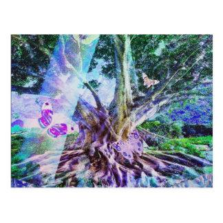 Árvore da beleza da vida cartão postal