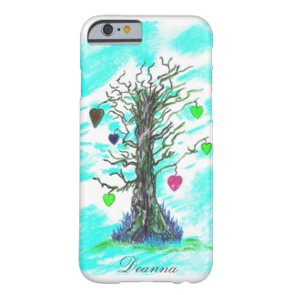 Árvore da cerceta do caso do iPhone 6 do amor mal Capa Barely There Para iPhone 6