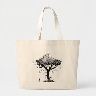 Árvore da cinza bolsa tote grande