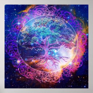 Árvore da cura da vida pôster