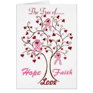 Árvore da esperança, do amor & da fé - cartão