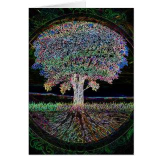 Árvore da excelência da vida cartão