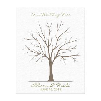 Árvore da impressão digital do casamento -