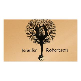 Árvore da ioga da harmonia, da paz e do equilíbrio cartões de visita
